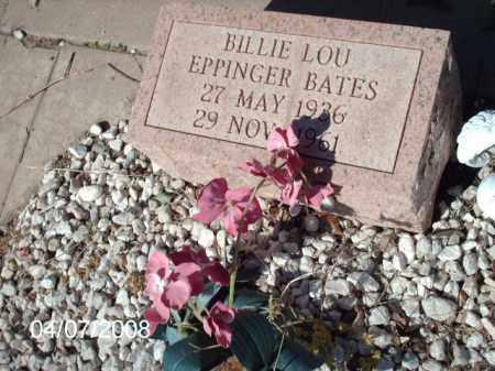 BATES, BILLIE  LOU - Gila County, Arizona | BILLIE  LOU BATES - Arizona Gravestone Photos