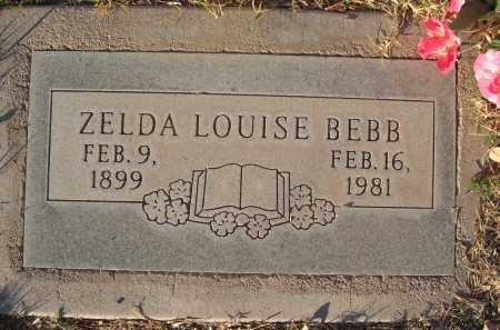 BEBB, ZELDA - Gila County, Arizona   ZELDA BEBB - Arizona Gravestone Photos