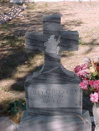 BECERRA, LILLY  G. - Gila County, Arizona   LILLY  G. BECERRA - Arizona Gravestone Photos