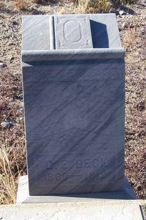 BECK, G.E. - Gila County, Arizona | G.E. BECK - Arizona Gravestone Photos
