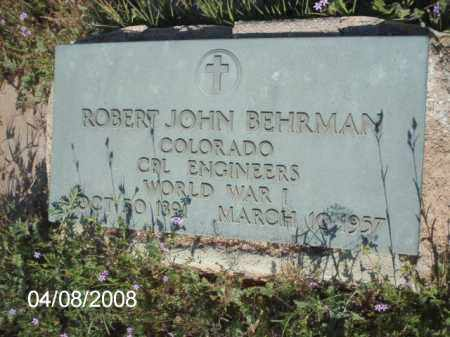 BEHRMAN, ROBERT JOHN - Gila County, Arizona | ROBERT JOHN BEHRMAN - Arizona Gravestone Photos
