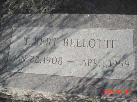 BELLOTTE, T. BERT - Gila County, Arizona   T. BERT BELLOTTE - Arizona Gravestone Photos