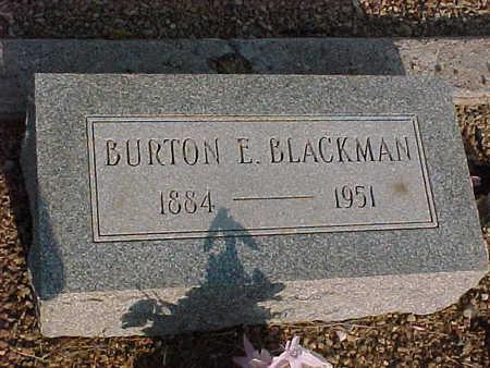 BLACKMAN, BURTON  E. - Gila County, Arizona | BURTON  E. BLACKMAN - Arizona Gravestone Photos