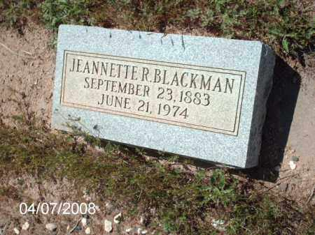 BLACKMAN, JEANNETTE R. - Gila County, Arizona | JEANNETTE R. BLACKMAN - Arizona Gravestone Photos