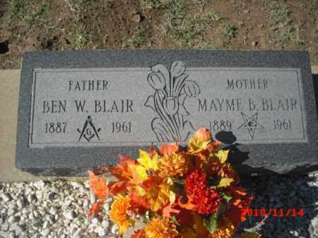 BLAIR, BEN   W. - Gila County, Arizona | BEN   W. BLAIR - Arizona Gravestone Photos