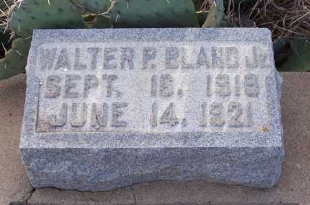 BLAND, WALTER P. JR. - Gila County, Arizona | WALTER P. JR. BLAND - Arizona Gravestone Photos