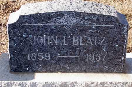 BLATZ, JOHN L. - Gila County, Arizona   JOHN L. BLATZ - Arizona Gravestone Photos
