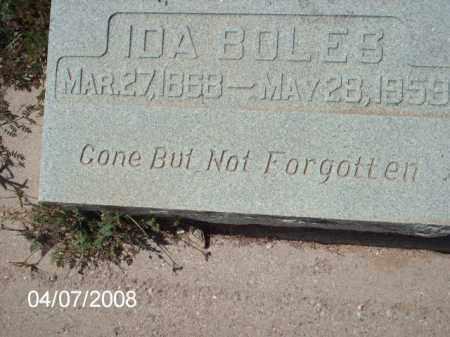 BOLES, IDA - Gila County, Arizona | IDA BOLES - Arizona Gravestone Photos