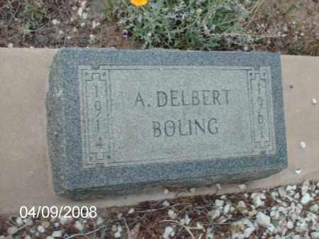 BOLING, A. DELBERT - Gila County, Arizona | A. DELBERT BOLING - Arizona Gravestone Photos
