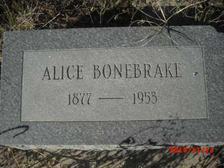 BONEBRAKE, ALICE - Gila County, Arizona   ALICE BONEBRAKE - Arizona Gravestone Photos