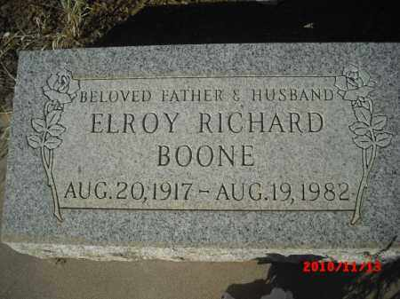 BOONE, ELROY RICHARD - Gila County, Arizona | ELROY RICHARD BOONE - Arizona Gravestone Photos