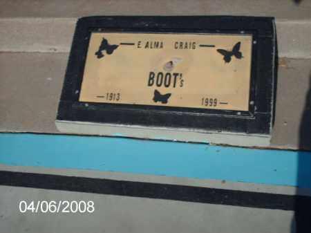 BOOTS, E. ALMA CRAIG - Gila County, Arizona | E. ALMA CRAIG BOOTS - Arizona Gravestone Photos