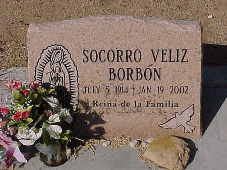 BORBON, SOCORRO  VELIZ - Gila County, Arizona | SOCORRO  VELIZ BORBON - Arizona Gravestone Photos