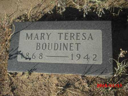 BOUDINET, MARY TERESA - Gila County, Arizona | MARY TERESA BOUDINET - Arizona Gravestone Photos