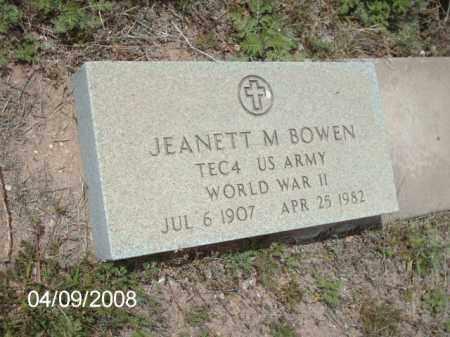 BOWEN, GEANETT M. - Gila County, Arizona | GEANETT M. BOWEN - Arizona Gravestone Photos