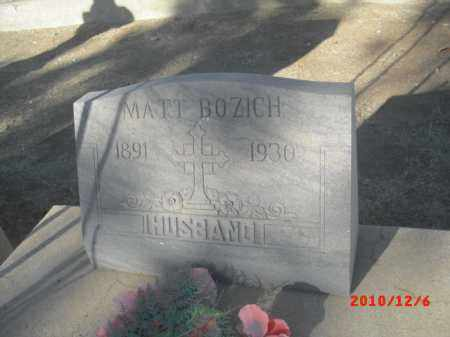 BOZICH, MATT - Gila County, Arizona   MATT BOZICH - Arizona Gravestone Photos