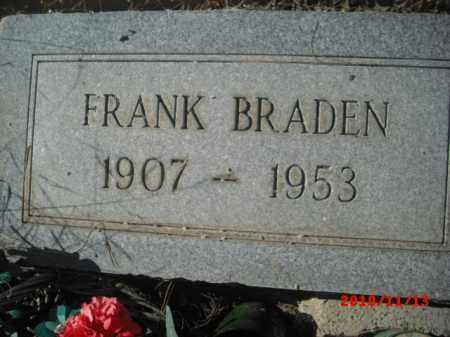BRADEN, FRANK - Gila County, Arizona | FRANK BRADEN - Arizona Gravestone Photos