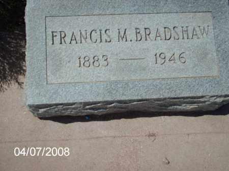 BRADSHAW, FRANCIS M. - Gila County, Arizona | FRANCIS M. BRADSHAW - Arizona Gravestone Photos