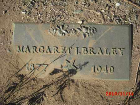 BRALEY, MARGARET I. - Gila County, Arizona | MARGARET I. BRALEY - Arizona Gravestone Photos