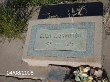BRANNON, ELIZA L. - Gila County, Arizona | ELIZA L. BRANNON - Arizona Gravestone Photos