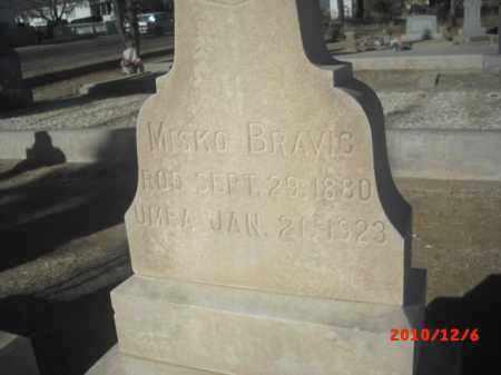 BRAVIC, MISKO - Gila County, Arizona   MISKO BRAVIC - Arizona Gravestone Photos