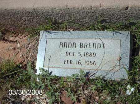 BRENDT, ANNA - Gila County, Arizona | ANNA BRENDT - Arizona Gravestone Photos