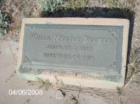 BREWER, WILLA MYRTLE - Gila County, Arizona | WILLA MYRTLE BREWER - Arizona Gravestone Photos