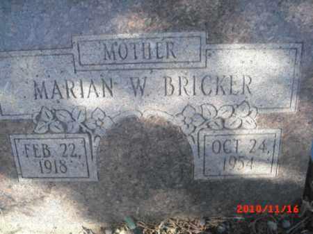 BRICKER, MARIAN W. - Gila County, Arizona   MARIAN W. BRICKER - Arizona Gravestone Photos