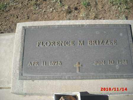 BRIZZEE, FLORENCE - Gila County, Arizona | FLORENCE BRIZZEE - Arizona Gravestone Photos