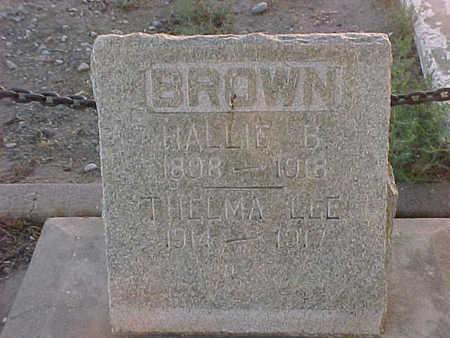 BROWN, THELMA  LEE - Gila County, Arizona | THELMA  LEE BROWN - Arizona Gravestone Photos