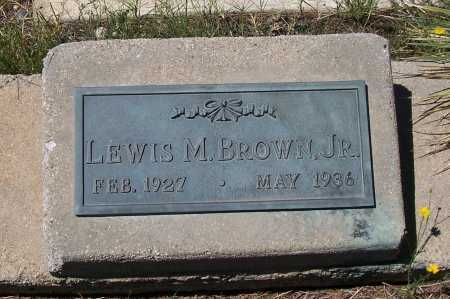 BROWN, LEWIS M. JR. - Gila County, Arizona   LEWIS M. JR. BROWN - Arizona Gravestone Photos