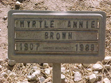 RAGSDALE BROWN, MYRTLE  ANNIE - Gila County, Arizona | MYRTLE  ANNIE RAGSDALE BROWN - Arizona Gravestone Photos