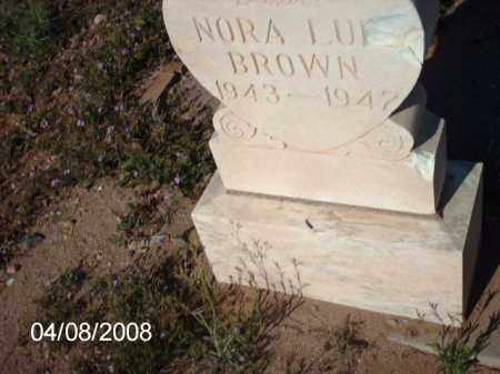 BROWN, NORA - Gila County, Arizona | NORA BROWN - Arizona Gravestone Photos