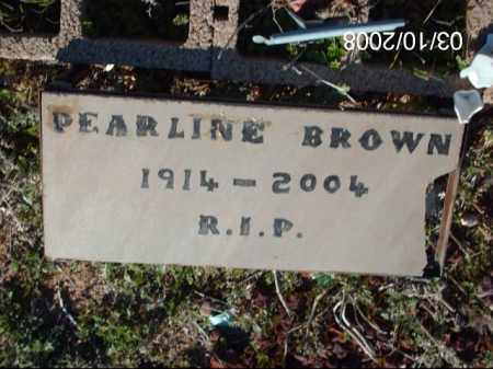BROWN, PEARLINE - Gila County, Arizona | PEARLINE BROWN - Arizona Gravestone Photos
