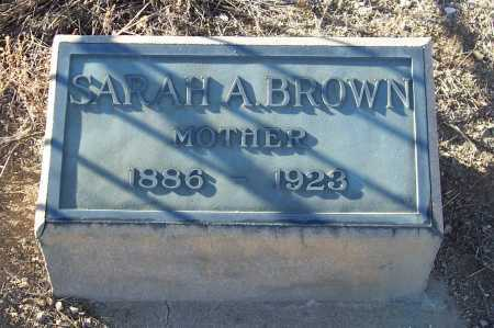 BROWN, SARAH A. - Gila County, Arizona | SARAH A. BROWN - Arizona Gravestone Photos