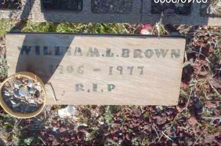 BROWN, WILLIAM L. - Gila County, Arizona | WILLIAM L. BROWN - Arizona Gravestone Photos