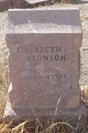 BRUNSON, ELIZABETH - Gila County, Arizona   ELIZABETH BRUNSON - Arizona Gravestone Photos