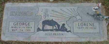 BRUNSON, GEORGE - Gila County, Arizona | GEORGE BRUNSON - Arizona Gravestone Photos