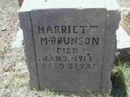 BRUNSON, HARRIETT - Gila County, Arizona | HARRIETT BRUNSON - Arizona Gravestone Photos