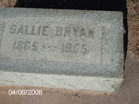 BRYAN, SALLIE - Gila County, Arizona | SALLIE BRYAN - Arizona Gravestone Photos