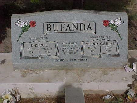 BUFANDA, LORENZO - Gila County, Arizona | LORENZO BUFANDA - Arizona Gravestone Photos