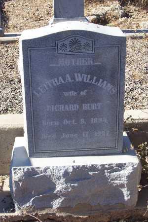 WILLIAMS BURT, LEITHA A. - Gila County, Arizona | LEITHA A. WILLIAMS BURT - Arizona Gravestone Photos