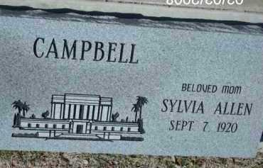 CAMPBELL, SYLVIA - Gila County, Arizona | SYLVIA CAMPBELL - Arizona Gravestone Photos