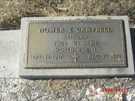 CAMPBELL, HOMER E. - Gila County, Arizona   HOMER E. CAMPBELL - Arizona Gravestone Photos