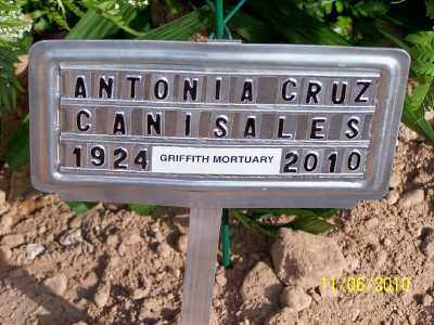 CRUZ CANISALES, ANTONIA - Gila County, Arizona | ANTONIA CRUZ CANISALES - Arizona Gravestone Photos