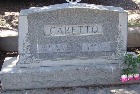 CARETTO, JOHN A.B. - Gila County, Arizona | JOHN A.B. CARETTO - Arizona Gravestone Photos