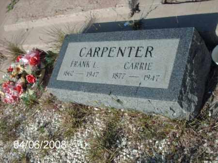 CARPENTER, FRANK L. - Gila County, Arizona | FRANK L. CARPENTER - Arizona Gravestone Photos