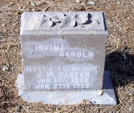 CARTER, IRVING HAROLD - Gila County, Arizona | IRVING HAROLD CARTER - Arizona Gravestone Photos