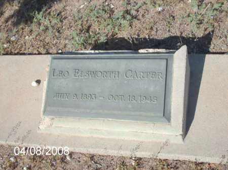 CARTER, LEO ELSWORTH - Gila County, Arizona | LEO ELSWORTH CARTER - Arizona Gravestone Photos