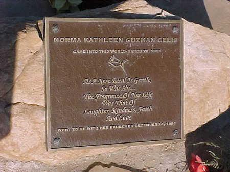 GUZMAN CELIS, NORMA KATHLEEN - Gila County, Arizona   NORMA KATHLEEN GUZMAN CELIS - Arizona Gravestone Photos